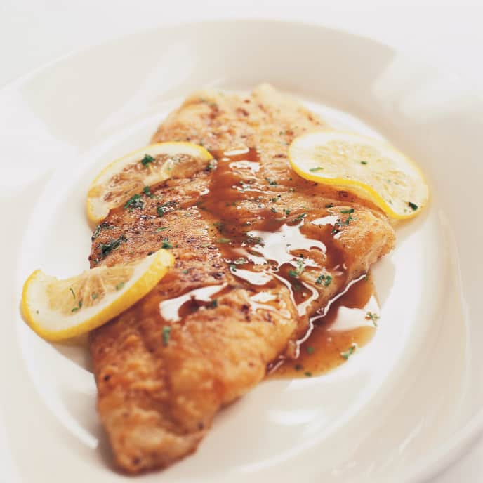 Fish Meuniere with Toasted Slivered Almonds