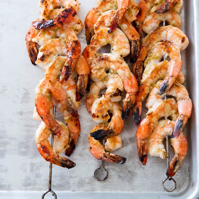 Broiled Shrimp Skewers