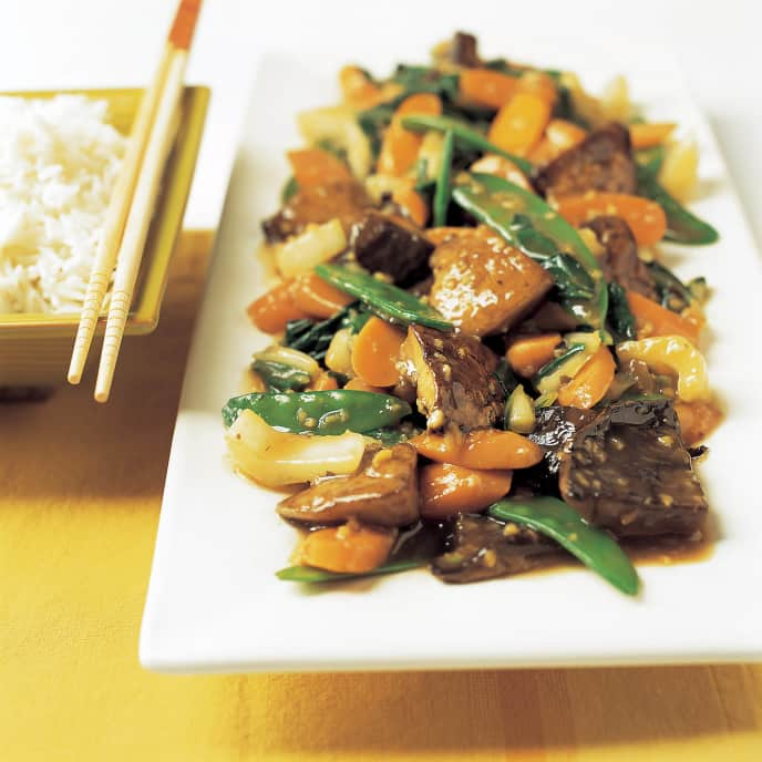 Stir-Fried Portobellos with Soy-Maple Sauce