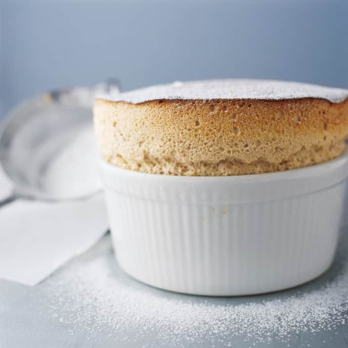 Grand Marnier Souffle with Shaved Chocolate