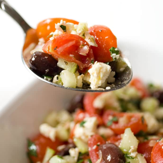 Greek Cherry Tomato Salad