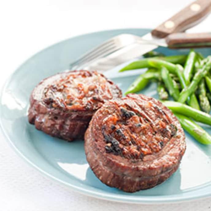 Charcoal-Grilled Stuffed Flank Steak