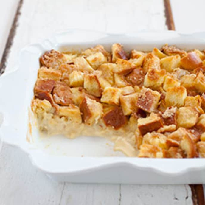 Pecan Bread Pudding with Bourbon and Orange