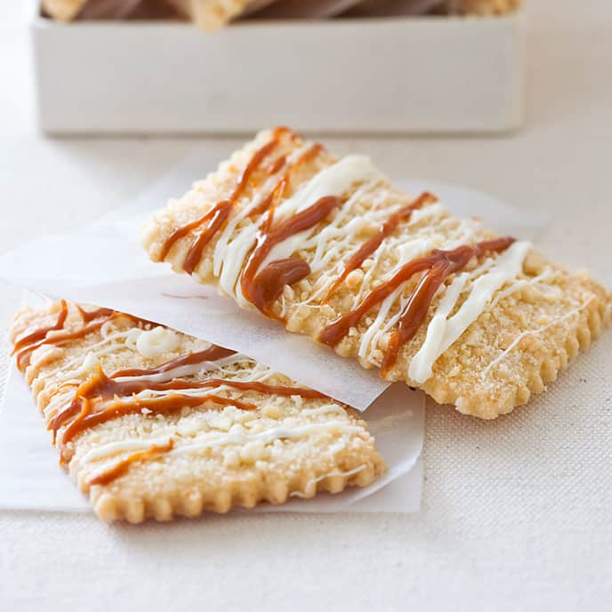White Chocolate–Dulce de Leche Shortbread
