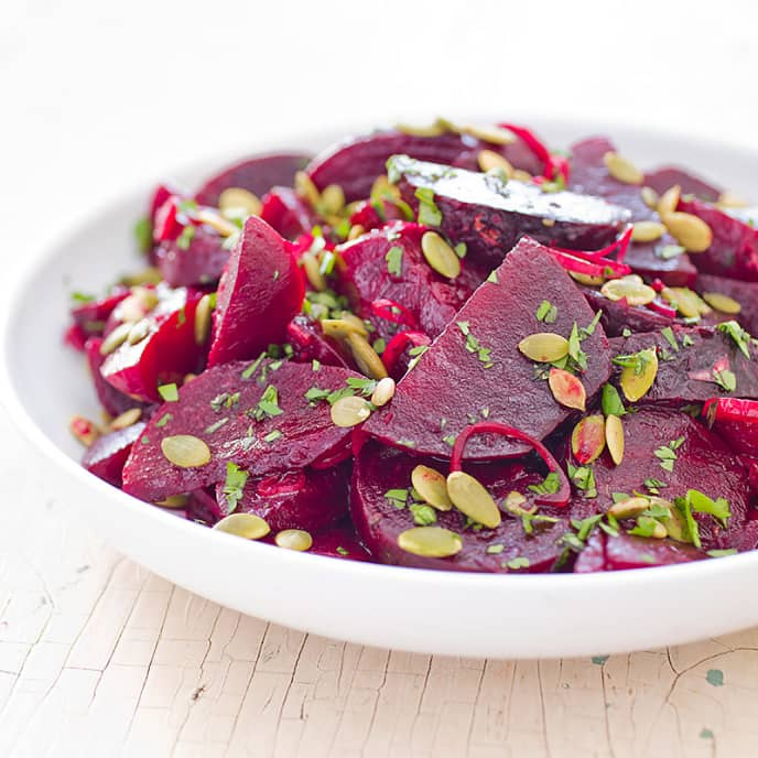 Beets with Lime and Pepitas