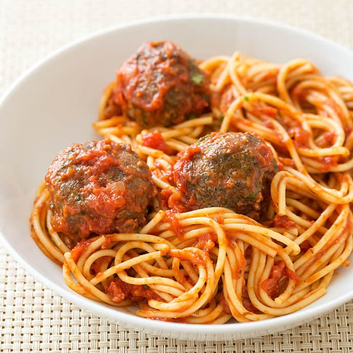 Reduced-Fat Meatballs and Marinara