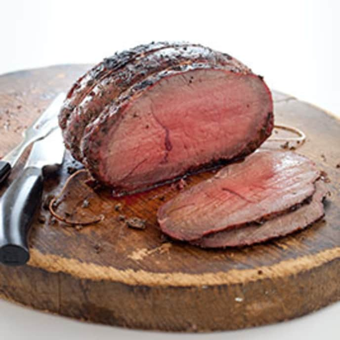 Inexpensive Charcoal-Grill-Roasted Beef with Shallot and Tarragon