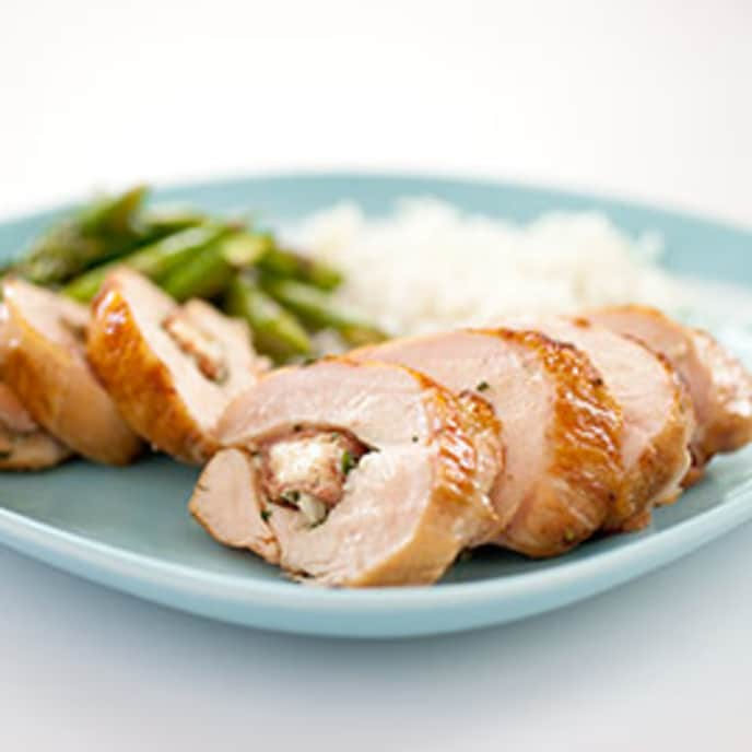 Gas-Grilled Stuffed Chicken Breasts with Black Forest Ham and Gruyere