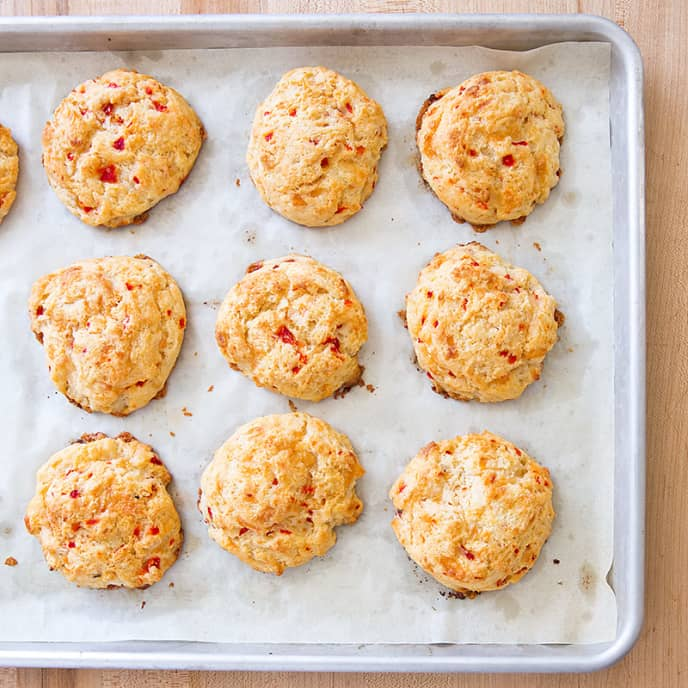 Cheddar and Pimento Drop Biscuits