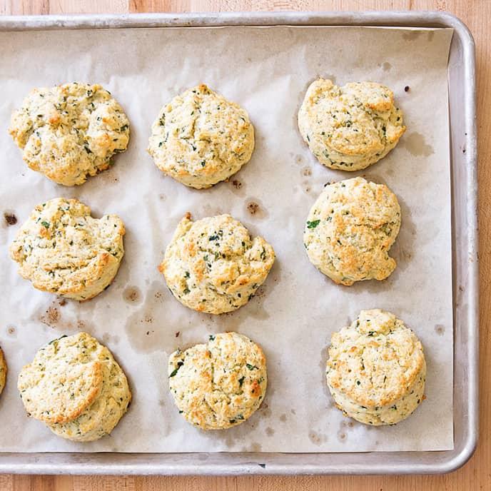 Mixed Herb Drop Biscuits