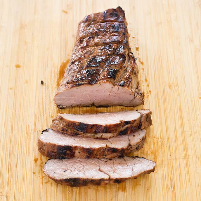 Lemon-Thyme Grilled Pork Tenderloin Steaks