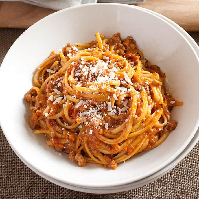 Weeknight Bolognese with Linguine