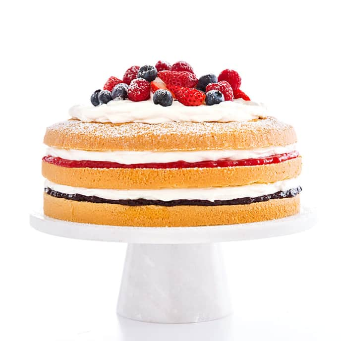 Summer Berry Chiffon Cake