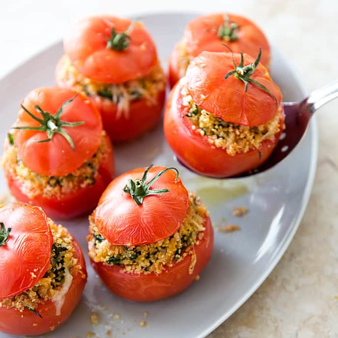 Stuffed Tomatoes with Capers and Pine Nuts