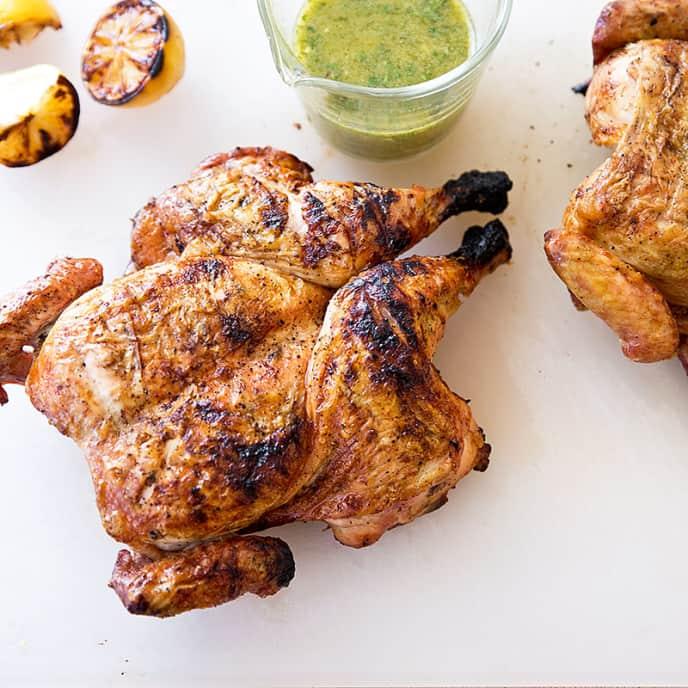 Grilled Butterflied Lemon Chicken