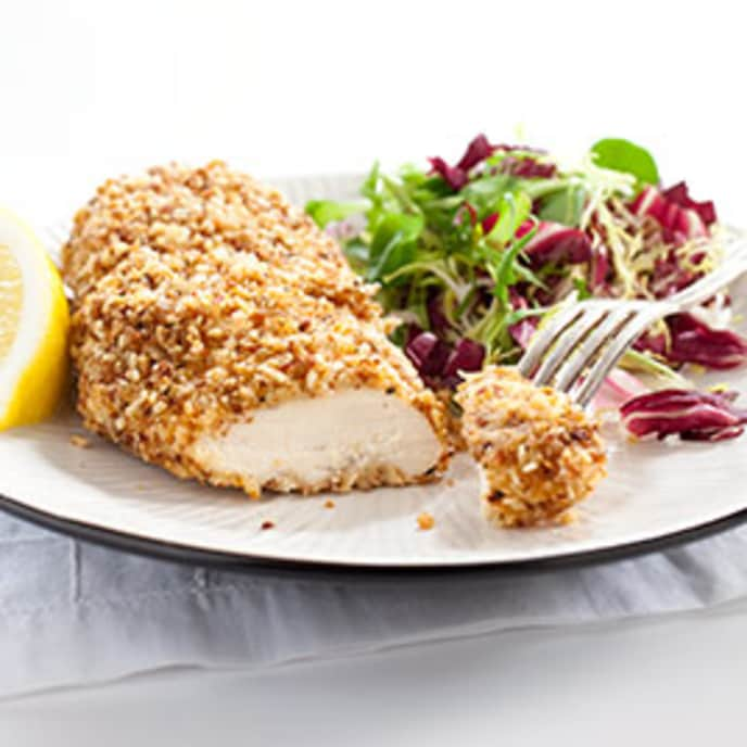 Almond-Crusted Chicken Cutlets with Lime and Chipotle