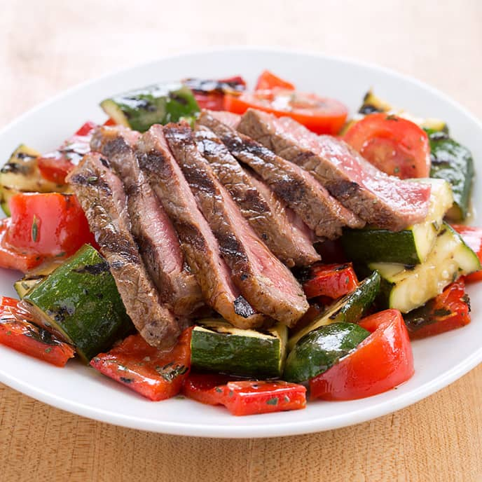Grilled Steak and Vegetable Salad | Cook's Country