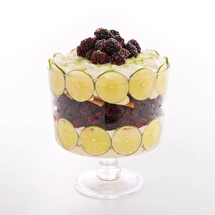 Blackberry-Key Lime Trifle