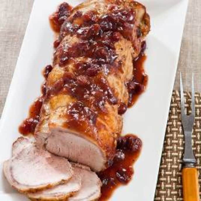 Slow-Cooker Pork Loin with Cranberries and Orange