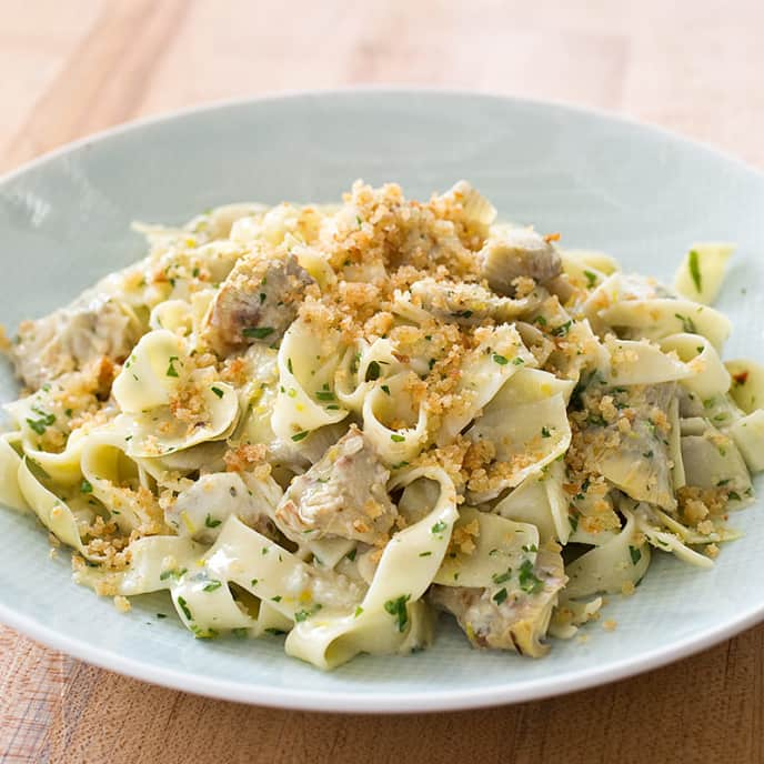 Tagliatelle with Artichokes and Olive Oil