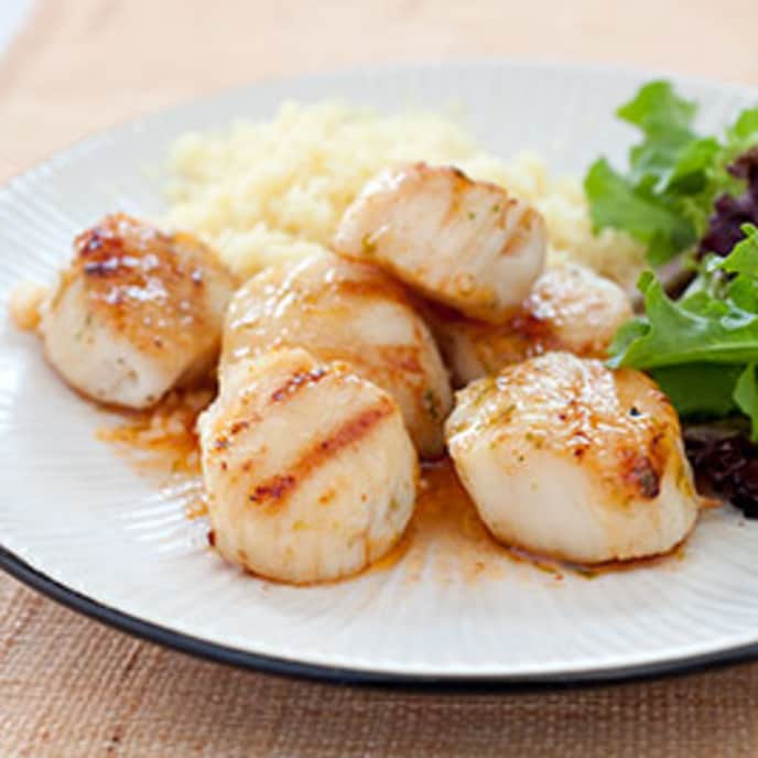 Gas-Grilled Sea Scallops