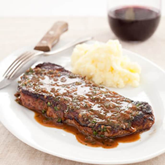 Pan-Seared Steaks with Herb Sauce