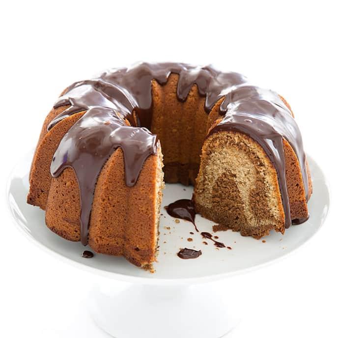 Mocha Walnut Bundt Cake