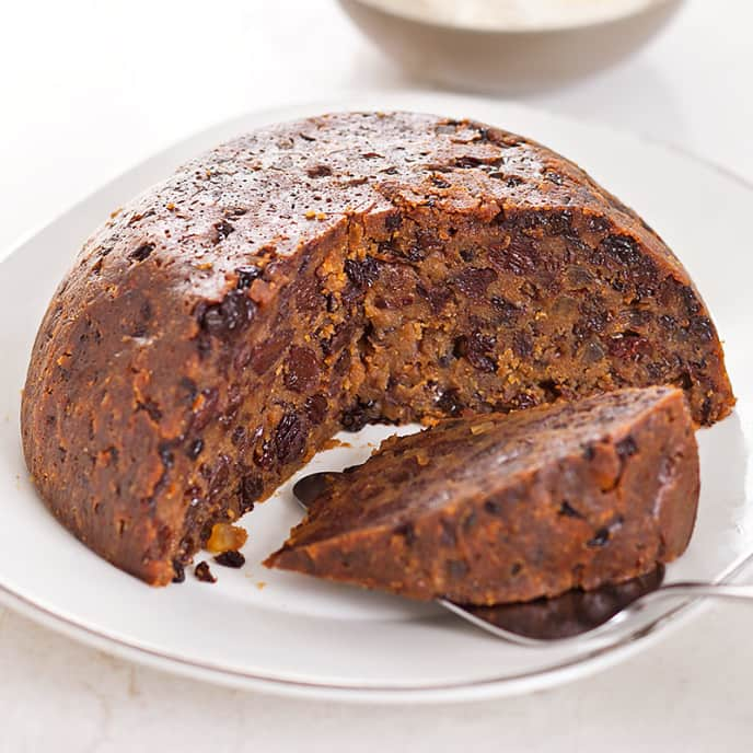 Plum Pudding with Orange-Mace Hard Sauce