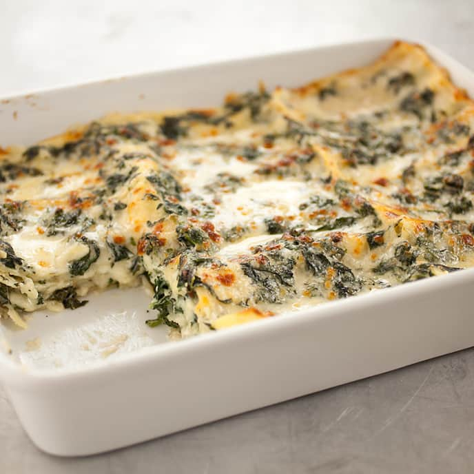 Spinach Lasagna with Prosciutto