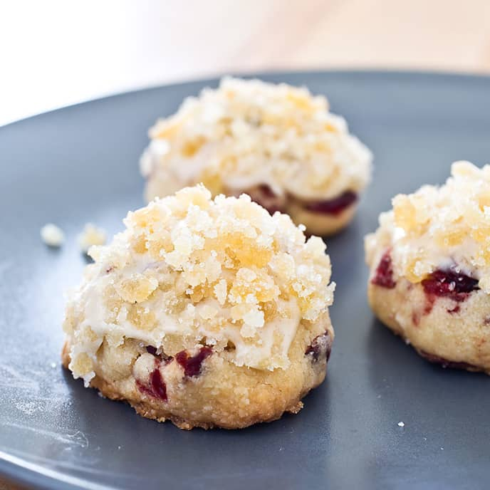Cranberry Cookies with Ginger Glaze