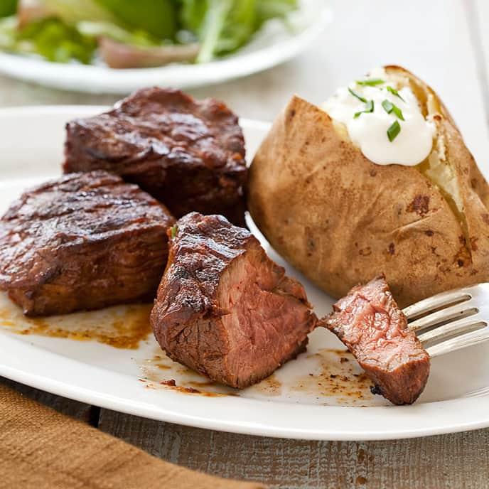 Grilled Steakhouse Steak Tips
