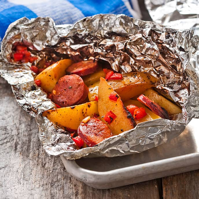 Spanish-Style Grilled Potato Hobo Packs