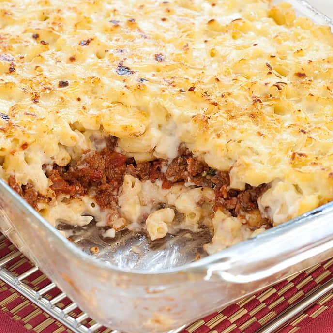 Pasta and Ground Lamb Casserole (Pastitsio)
