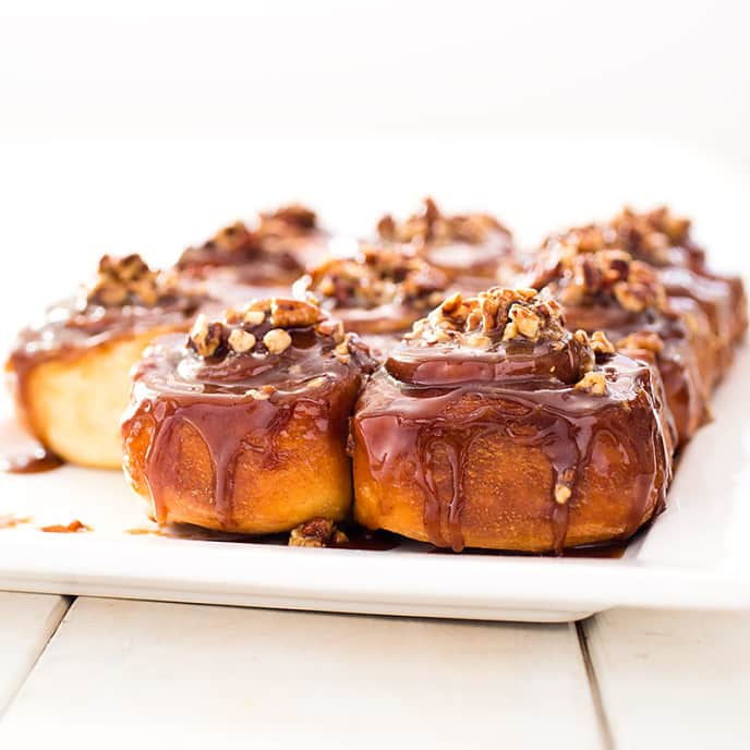 Sticky Buns with Pecans for Freezing