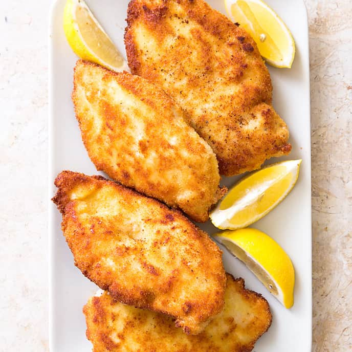 Crisp Breaded Chicken Cutlets with Parmesan (Chicken Milanese)
