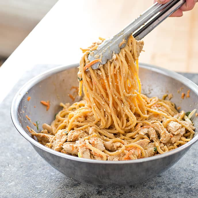Sesame Noodles with Shredded Chicken