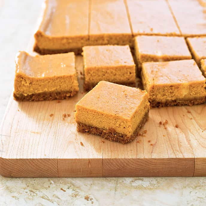 Pumpkin Cheesecake Bars America S Test Kitchen