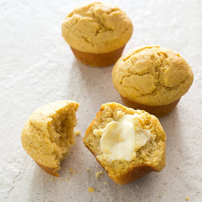 Savory Corn Muffins with Rosemary and Black Pepper