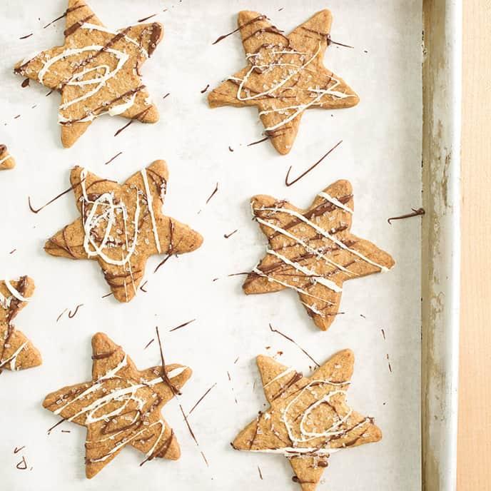 Sparkling Coffee Snowflakes