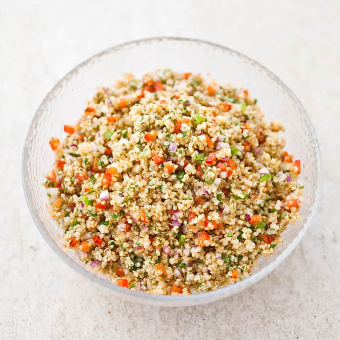 Quinoa Salad with Red Bell Pepper and Cilantro