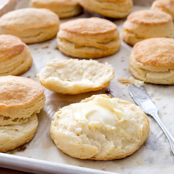 Flaky Buttermilk Biscuits with Parmesan