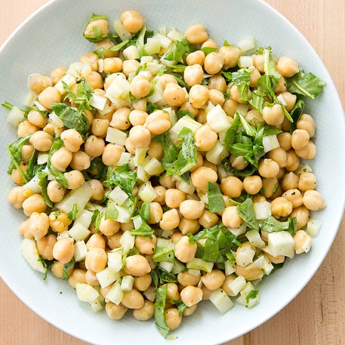 Chickpea Salad with Fennel and Arugula