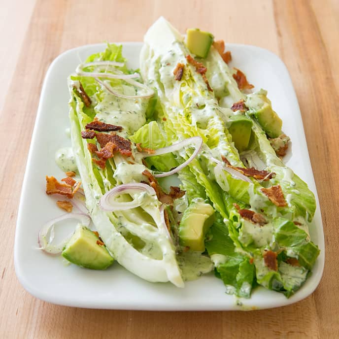 Romaine Salad with Green Goddess Dressing