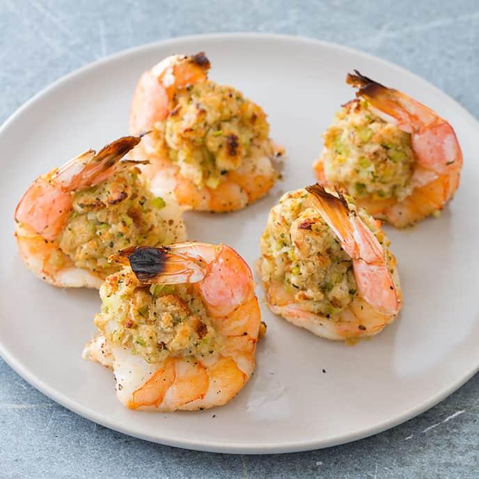 Reduced-Fat Baked Stuffed Shrimp