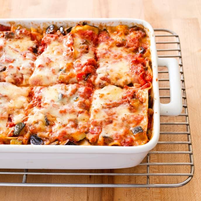 Roasted Zucchini and Eggplant Lasagne