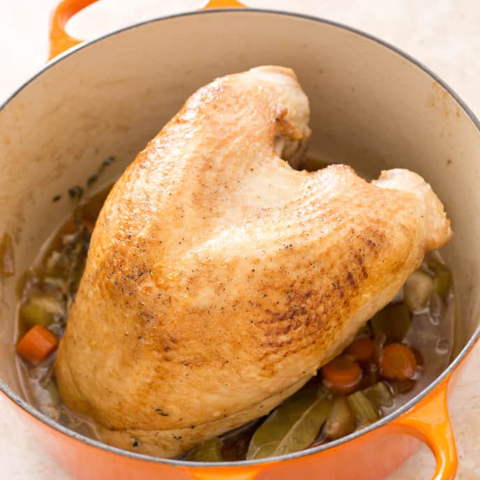 Turkey Breast en Cocotte with Pan Gravy