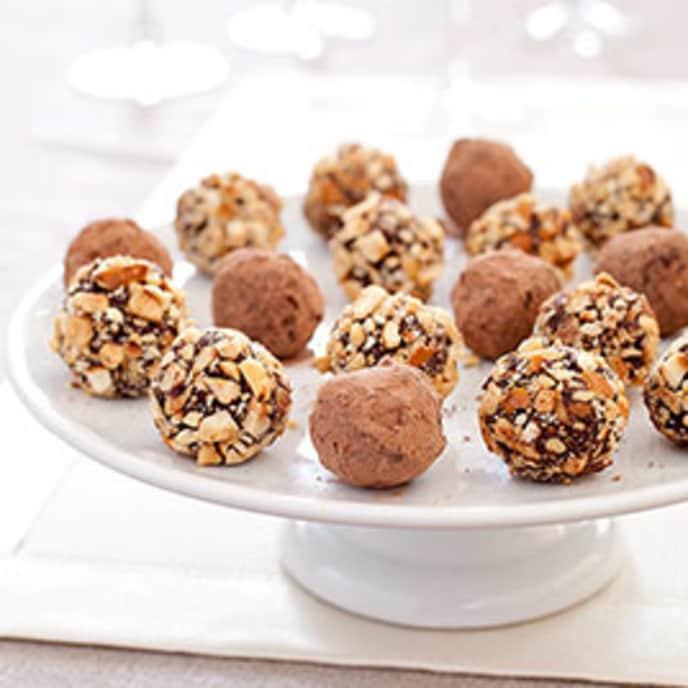 Hazelnut-Mocha Truffles