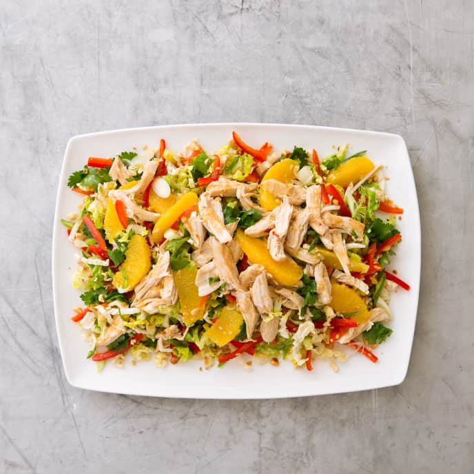 Chicken and Napa Cabbage Salad with Oranges