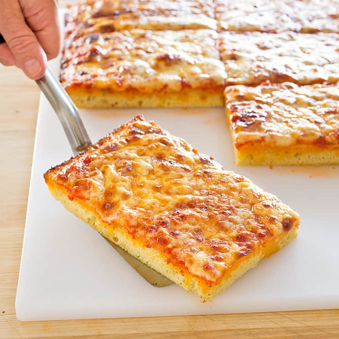 Thick-Crust Sicilian-Style Pizza