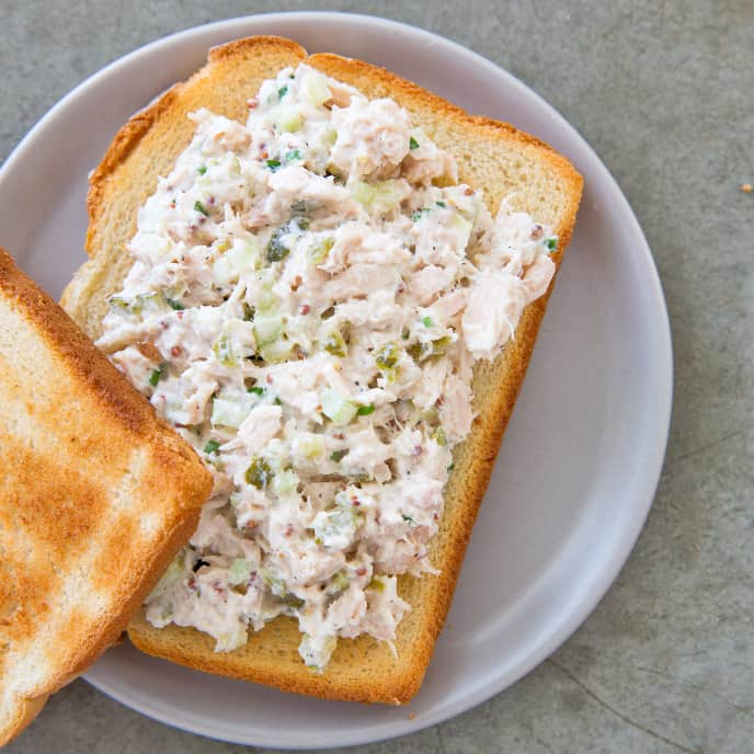 Tuna Salad with Cornichons and Whole-Grain Mustard